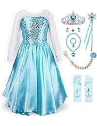 Little Girl's Princess Elsa Fancy Dress Costume