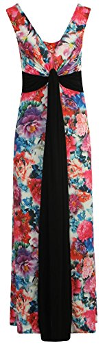 Dress Panel Selfie Click Knot Cerise Grecian Floral Womens Maxi New 0ITxZv