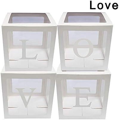 Fotica - Juego de 4 Cajas de Globos Transparentes para decoración ...