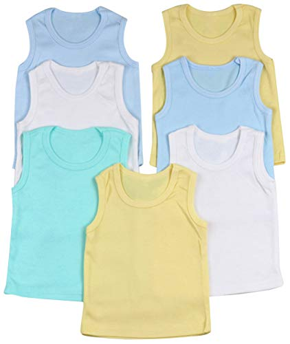 Pastel Toddler - ToBeInStyle Boys' 4 Pack Double Needle Hem Tank Tops - Pastel - Size 3