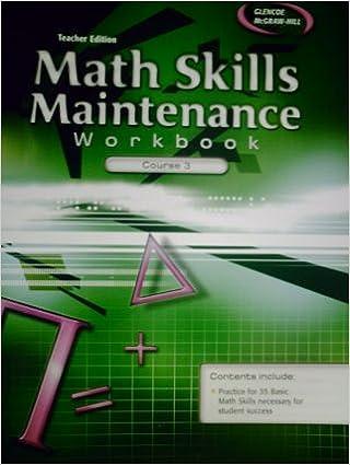 TEACHER EDITION Math Skills Maintenance Workbook Course 3