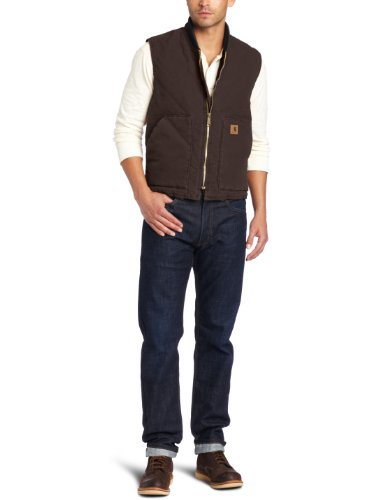 Carhartt Men's Big & Tall Sandstone Vest Arctic Quilt Lined,