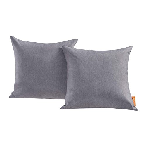 Modway EEI-2001-GRY Convene Two Piece Outdoor Patio Pillow Set, Gray by Modway