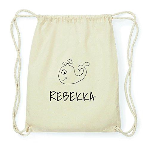 JOllipets REBEKKA Hipster Turnbeutel Tasche Rucksack aus Baumwolle Design: Wal QsjLTL