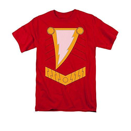 Bruce Wayne Costume Ideas (Justice League Of America DC Comics Shazam Armor Costume Adult T-Shirt)