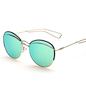 Embryform Metal round frame fashion sunglasses woman