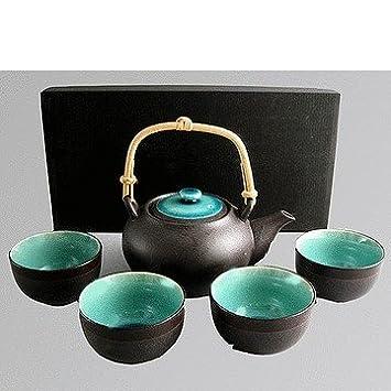 Miya Japanese Ceramic Tea Gift Set For Four   Ocean Blue Miya Japanese  Tableware Gifts