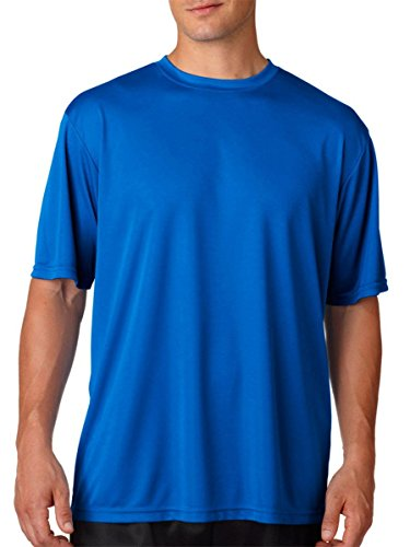 A4 Men's Cooling Performance Crew Short Sleeve T-Shirt, Royal, Large