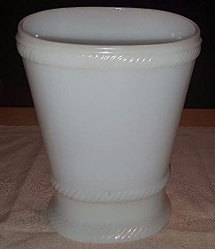 Vintage 85 Eo Brody Co Oval Milk Glass Vase Or Planter J 2538