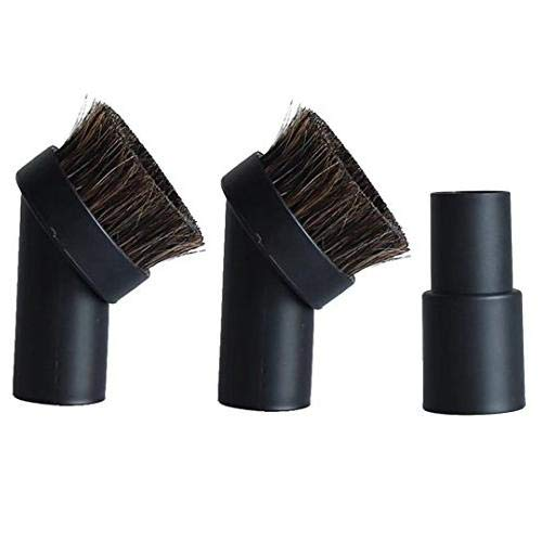 ECOMAID Durable Floor Replacement for Most Vacuum Cleaners Accessories Replacement Include 2 Packs 1.25inch Horse Hair Dusting Round Brush 1 Pack 1-3/8inch to 1-1/4''inch Adapter