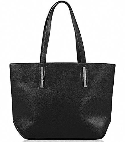 Gattinoni Roma Hilary Shopper Bag Black