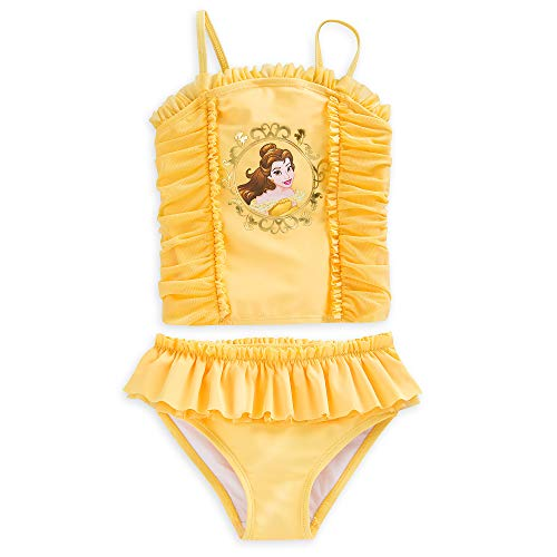 Disney Belle Two-Piece Swimsuit for Girls Size 7/8 Yellow]()