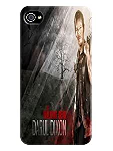 Clear crystal hard snap-on air case tpu back cover for iphone 4/4s of The Walking Dead Daryl Dixon in Fashion E-Mall