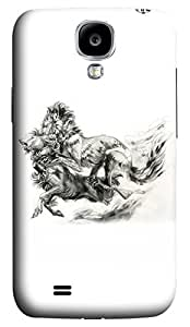 Brian114 Samsung Galaxy S4 Case, S4 Case - Customized 3D Designs Snap-on Case for Samsung Galaxy S4 I9500 Fighting Lions 2 Best Protective Back Case for Samsung Galaxy S4 I9500