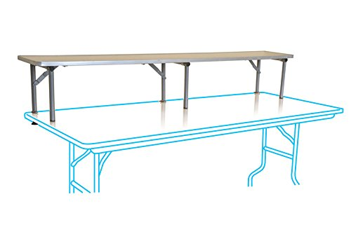 Folding Table Riser - Commercial Quality Six Foot Wood Bar Top with Aluminum Edge