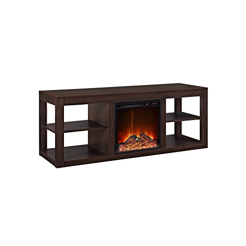 "Ameriwood Home Parsons Console Fireplace for TVs up to 65"", Espresso"