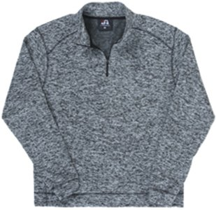 (J. America Cosmic Fleece 1/4 Zip Pullover Sweatshirt, Charcoal Fleck, X-Large)