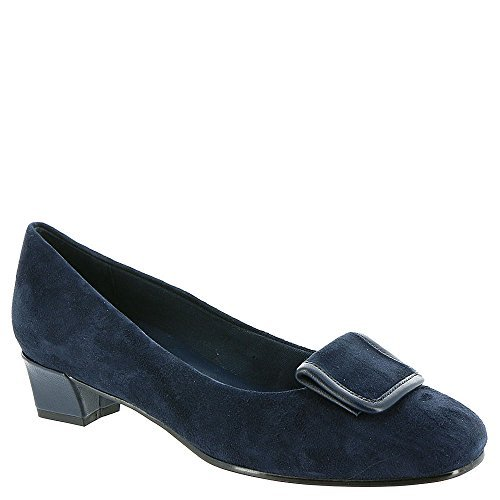 David Tate Womens Ariana Suede Round Toe Classic Pumps, Navy Suede, Size 8.0