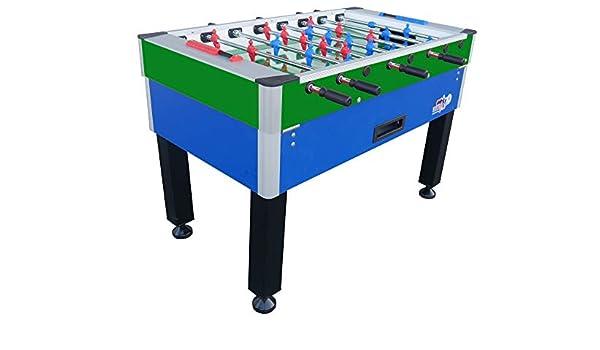 Roberto Sport New Camp - Futbolín con Monedero, Color Azul y Verde ...