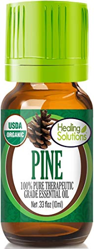 Organic Pine Essential Oil (100% Pure - USDA Certified Organic) Best Therapeutic Grade Essential Oil - 10ml (Oil Pine Scent)