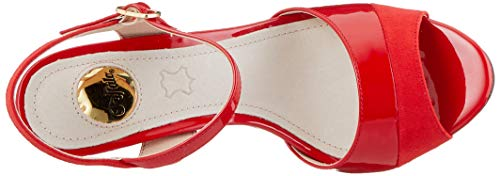 Buffalo 000 Para red Rojo Mujer Sandalia Pulsera Aida Con wwpg7q