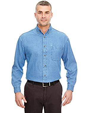 8960 Men's Long-Sleeve Cypress Denim Button Down Shirt