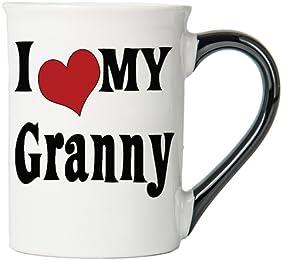 I Love My Granny Large 18 Oz. Coffee Mug; Granny Ceramic Coffee Cup; Granny Gift By Tumbleweed