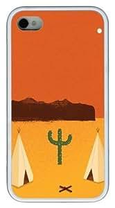 Desert Vector TPU White Case for iphone 4S/4