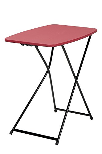 "Cosco Plastic Box (COSCO 18"" x 26"" Indoor Outdoor Adjustable Height Personal Folding Tailgate Table, Red, 2-pack)"