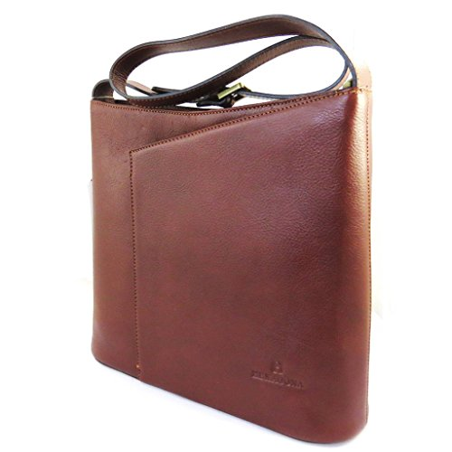 Hexagona [M0787] - Sac cuir 'Hexagona' marron