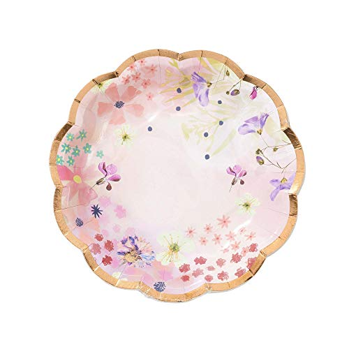 Paper Plates Disposable Plates Party Plates Wedding Plates for Wedding Reception Floral Blossom Girls 7