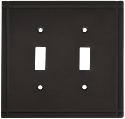 UPC 033923804103, Stanley Hardware V8070 Ranch Double Switch Plate in Oil Rubbed Bronze