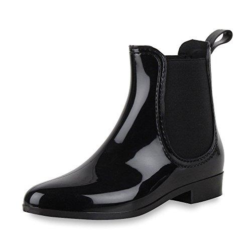 fashion Mujer napoli agua negro de Botas zHHdIqxBw