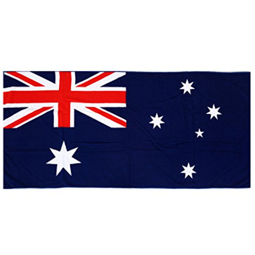 Australian Flag Beach Towel Four Seasons Essential Beach Towel Towel Microfiber Big Size Towel 2Set / Gift / Honeymoon / Travel / Summer / Swimming Pool / Big Size / - Short Pump Mall