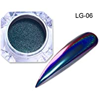 LG-06 : Born Pretty Holographic Chameleon Peacock Nail Glitter Mirror Laser Pigment Powder Holo Nail Art Chrome Glitters Nailart UV Gel