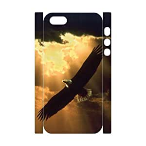 3D Bumper Plastic Customized Case Of Eagle for iPhone 5,5S