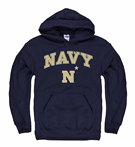 Campus Colors Navy Midshipmen Arch & Logo Gameday Hooded Sweatshirt - Navy, Large
