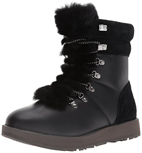 UGG Women's Viki Waterproof Fashion Sneaker, Black, 9 B(M) US (Leather Ugg Women Boots)