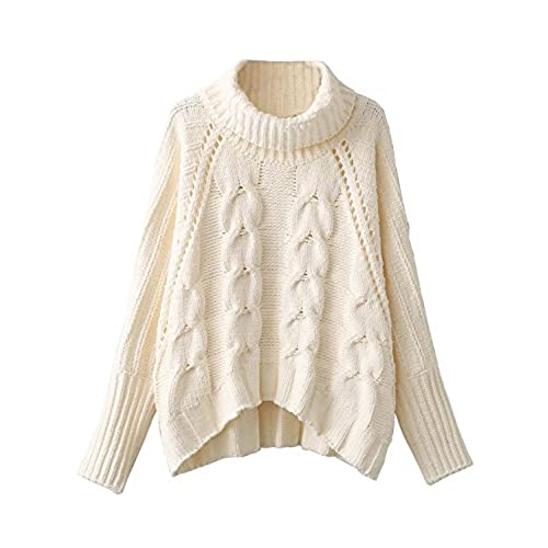 Cable Knit Turtleneck Sweater: Amazon.com