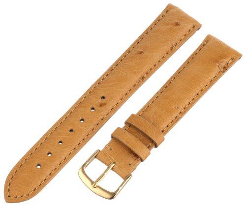Hadley-Roma Men's MS2003RAJ180 18-mm Brown Genuine Ostrich Leather Watch Strap