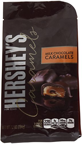 Hershey's Caramels, Milk Chocolate Caramels, 7.2 Ounce (Pack of 2)
