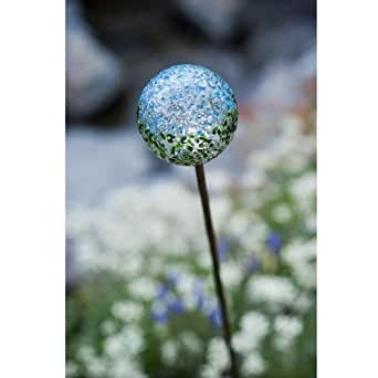 Recycled Glass Solar Garden Stake Light Color: Earth Globe