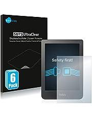 """Savvies 6x Schermbeschermer compatibel met Kobo Clara HD (6"""") Screenprotector ultra transparant"""