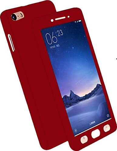 best loved 0858d c6c6b CEDO 360 Degree Full Body Protection Front and Back Cover, iPaky Style for  Oppo F1S with Tempered Glass(Black)