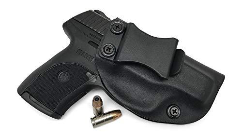 Concealment Express IWB KYDEX Holster: fits Ruger LC9 LC9s LC380 EC9s - Custom Fit - US Made - Inside Waistband - Adj. Cant/Retention (BLK, Right) (Best Holster Ruger Lc9)