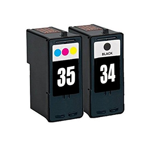YATUNINK # 34 35 Ink Cartridges Twin Pack Fit Lexmark Color Jetprinter Z815, Z816, Z1300, Z1310, Z1320, Z1410, Z1420, Z845 (Z1420 Color Inkjet Printer)