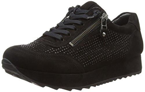 Schmenger Und schwarz Para Cat Zapatillas Negro Sohle Mujer Schwarz black 480 Kennel d5w0qd