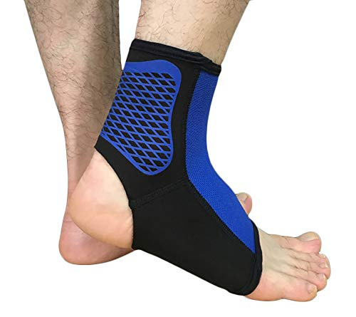 Lovesun Sports Protective Gear for Ankle Supports - Muay Thai, Kickboxing, Boxing, MMA,Outdoor Basketball,Football,Climbing Protection (M, Blue)