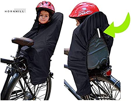 Hornhill CHILD BIKE SEAT CARRIER Cycling Raincoat JUNIOR CAPE COAT PONCHO Waterproof NOOK
