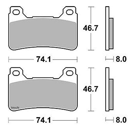 ブレーキング BRAKING ブレーキパッド フロント 04年-13年 CBR1000RR、CB1000R (CM66 セミメタル) 1721-0667 899CM66   B01MF5E4O3